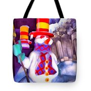Snowman Tote Bag by George Rossidis