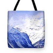 Snowy mountains Tote Bag by Elena Elisseeva