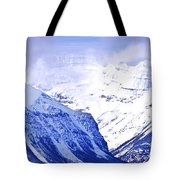 Snowy Mountains Tote Bag by Elena Elisseeva