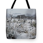 Snowy Pasture Tote Bag by Melany Sarafis