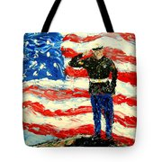 So Proudly They Hailed Tote Bag by Mark Moore