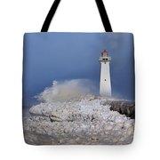 Sodus Bay Lighthouse Tote Bag by Everet Regal
