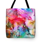 Somebody's Smiling - Abstract Art Tote Bag by Jaison Cianelli