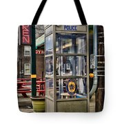 Someone Call The Police Tote Bag by Paul Ward