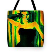 Sophia Loren - Neon Pop Art Tote Bag by Absinthe Art By Michelle LeAnn Scott