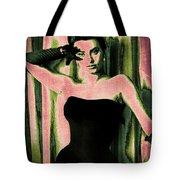 Sophia Loren - Pink Pop Art Tote Bag by Absinthe Art By Michelle LeAnn Scott