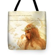 Sounds Of The Sea Tote Bag by Linda Lees