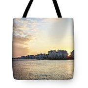 South Pointe Sunset Tote Bag by Eyzen M Kim