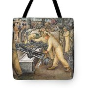South Wall of a Mural depicting Detroit Industry Tote Bag by Diego Rivera