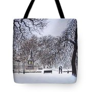 Southampton Watts Park In The Snow Tote Bag by Martin Davey
