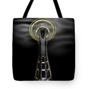 Space Needle And Clouds Tote Bag by Chalet Roome-Rigdon