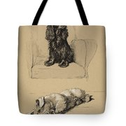 Spaniel And Sealyham, 1930 Tote Bag by Cecil Charles Windsor Aldin