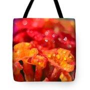 Sparkling Jeweltone Floral II Tote Bag by Debbie Portwood