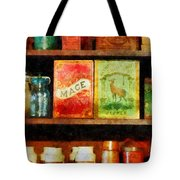 Spices on Shelf Tote Bag by Susan Savad