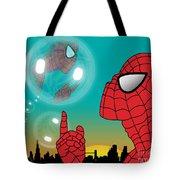 Spiderman 4 Tote Bag by Mark Ashkenazi