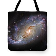 Spiral Galaxy Ngc 1672 Tote Bag by The  Vault - Jennifer Rondinelli Reilly