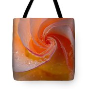 Spiral Rose Tote Bag by Juergen Roth
