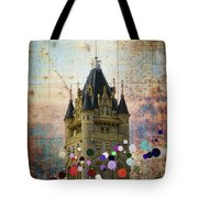 Splattered County Courthouse Tote Bag by Daniel Hagerman