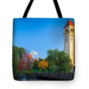Spokane Fall Colors Tote Bag by Inge Johnsson