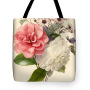 Spray Of Three Flowers Tote Bag by Marie Anne