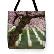 Spring Arives At Arlington National Cemetery Tote Bag by Susan Candelario