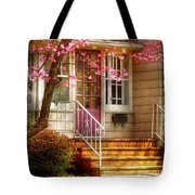 Spring - Door - Dogwood  Tote Bag by Mike Savad