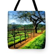 Spring In The Vineyard Tote Bag by Elaine Plesser