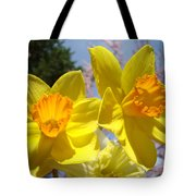 Spring Orange Yellow Daffodil Flowers Art Prints Tote Bag by Baslee Troutman
