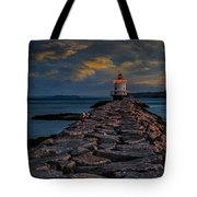 Spring Point Ledge Lighthouse Tote Bag by Susan Candelario