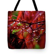 Spring Rain Tote Bag by Rona Black