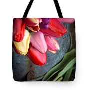 Spring Tulips Tote Bag by Edward Fielding