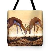 Springbok Dual In Dust Tote Bag by Johan Swanepoel