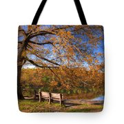 Springtime Fire Tote Bag by Debra and Dave Vanderlaan