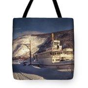 S.S. Keno Sternwheel Paddle Steamer Tote Bag by Priska Wettstein