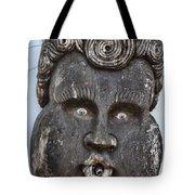 St Augustine Blue Eyes Tote Bag by Deborah Benoit
