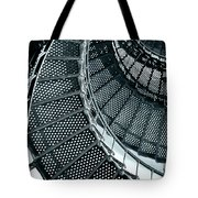 St Augustine Lighthouse Staircase Tote Bag by Christine Till
