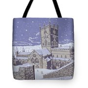 St David s Cathedral in the Snow Tote Bag by Huw S Parsons