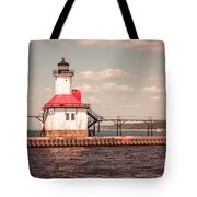 St. Joseph Lighthouse Vintage Picture  Photo Tote Bag by Paul Velgos