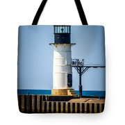 St. Joseph Outer Lighthouse Photo Tote Bag by Paul Velgos