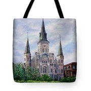St. Louis Cathedral Tote Bag by Dianne Parks