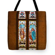 St Michael And St Raphael Tote Bag by Christine Till