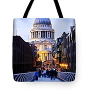 St. Paul's Cathedral London At Dusk Tote Bag by Elena Elisseeva