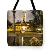 St. Simons Lighthouse Tote Bag by Debra and Dave Vanderlaan