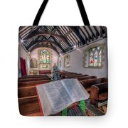 St Tysilios Bible Tote Bag by Adrian Evans