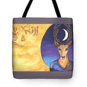 Stag Dreamer Tote Bag by Cat Athena Louise