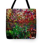 Stained Glass  Fall Reflected In The Still Waters Tote Bag by Lanjee Chee