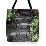 Stairway Path To Gardens Tote Bag by Athena Mckinzie