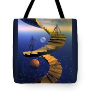 Stairway To Imagination Tote Bag by Claude McCoy