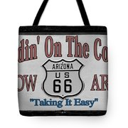 Standin' On A Corner In Winslow Arizona Tote Bag by Christine Till
