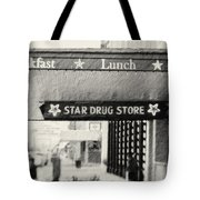 Star Drug Store Marquee Tote Bag by Scott Pellegrin